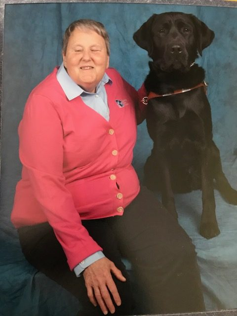 Nancy and black lab, Nate